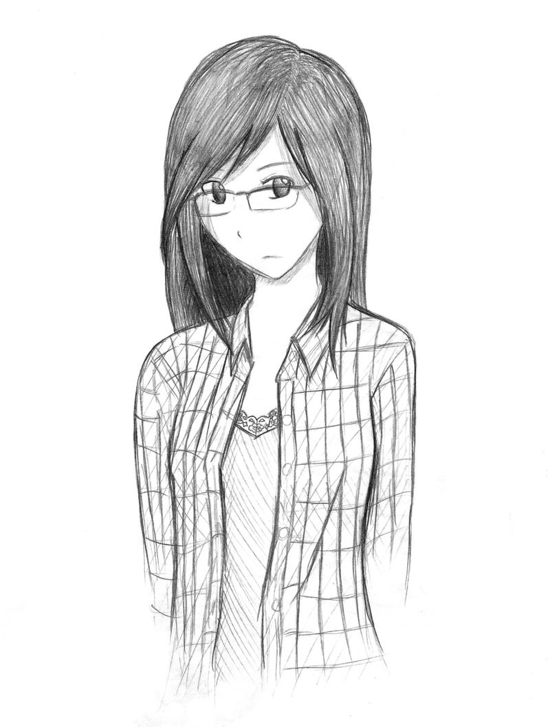 Girl Sketch By Karinacho On Deviantart
