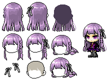 Mixed hair - Kirigiri-san by Witchcooper