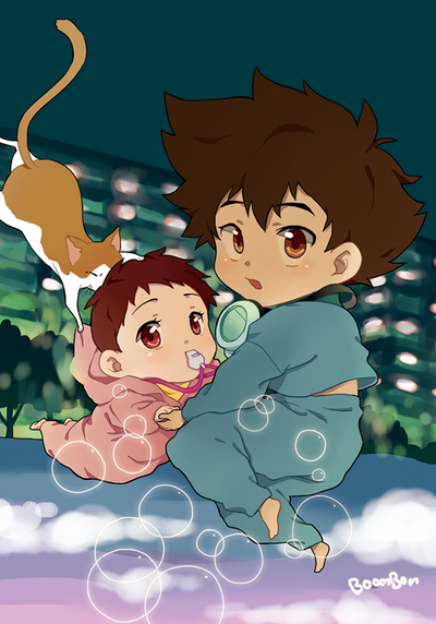 Digimon : Taichi and Hikari by booombom