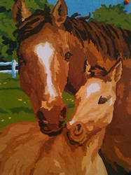 Mother and Foal by Schollian