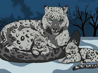 Snow Leopards by Schollian