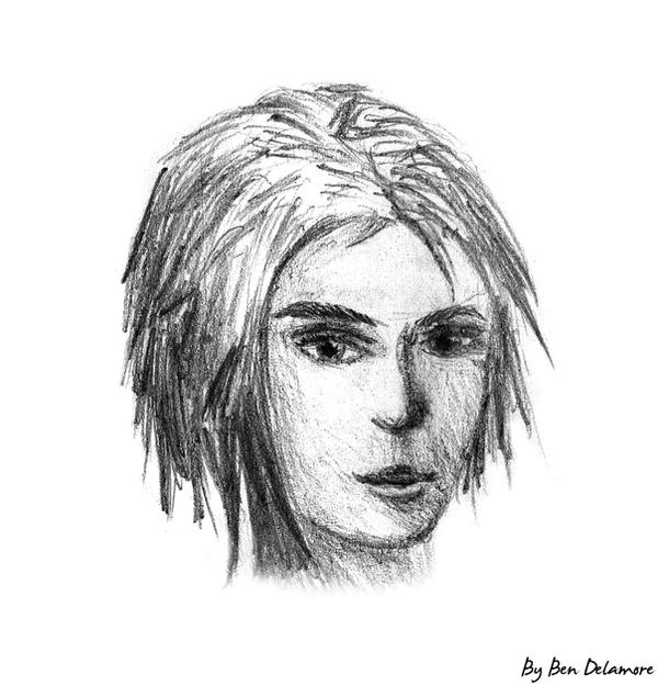 #37: Girl Face doodle by Ben-Delamore
