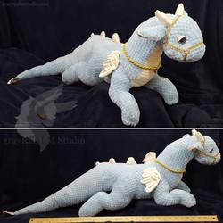 Blue cuddle dragon by grayREM