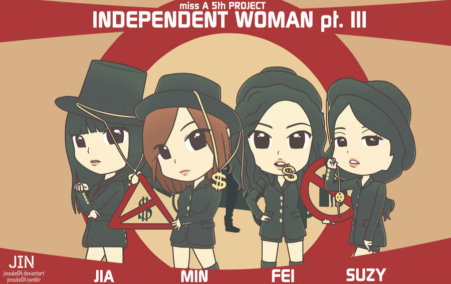 miss A I Don't Need A Man Chibi by jinsuke04