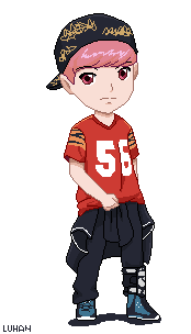 EXO Luhan Growl Pixel Art by jinsuke04