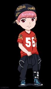 EXO Luhan Growl Pixel Art By Jinsuke04