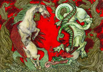 Unicorn Dragon by creaturecreature