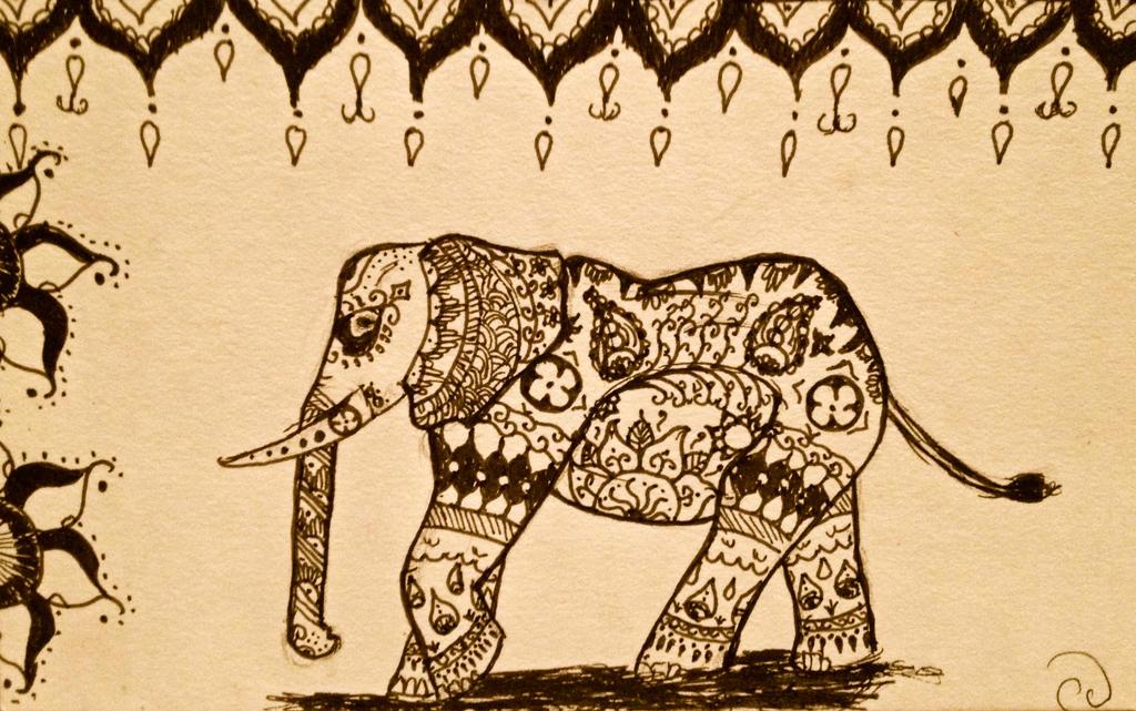 Mehndi elephant designs