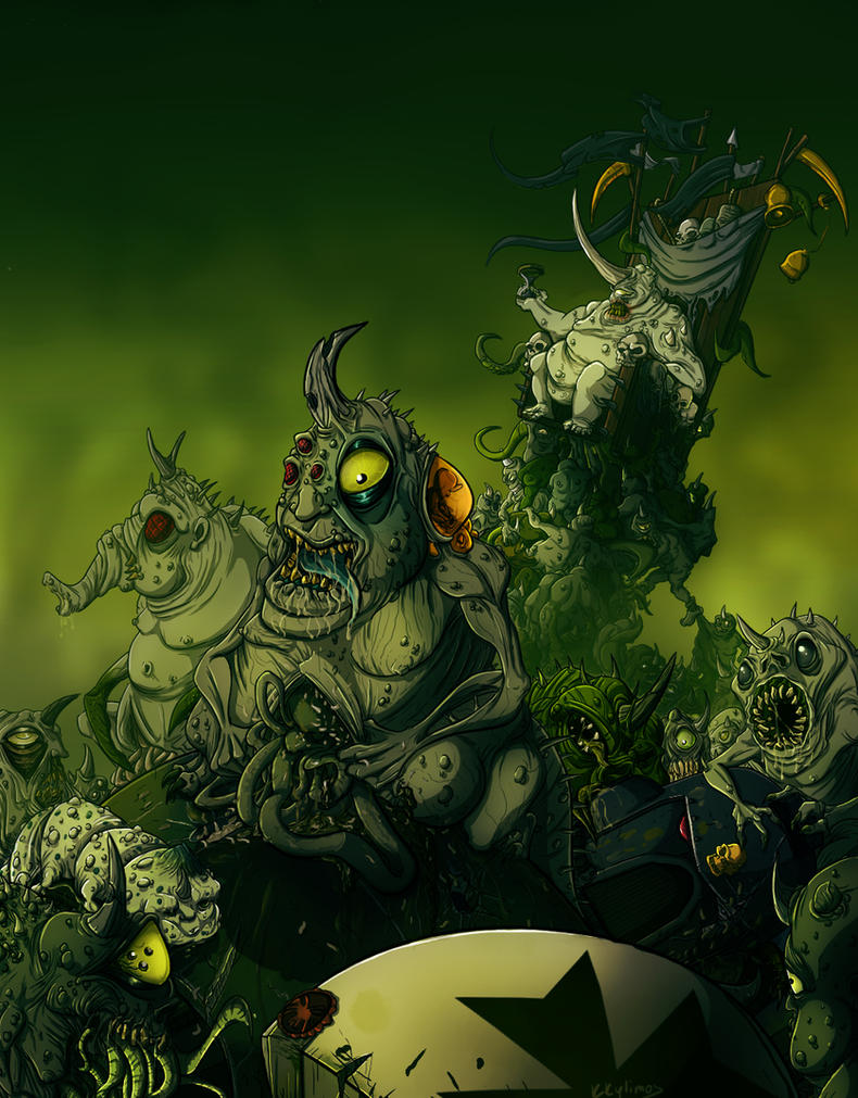A Feast for Nurglings by KKylimos
