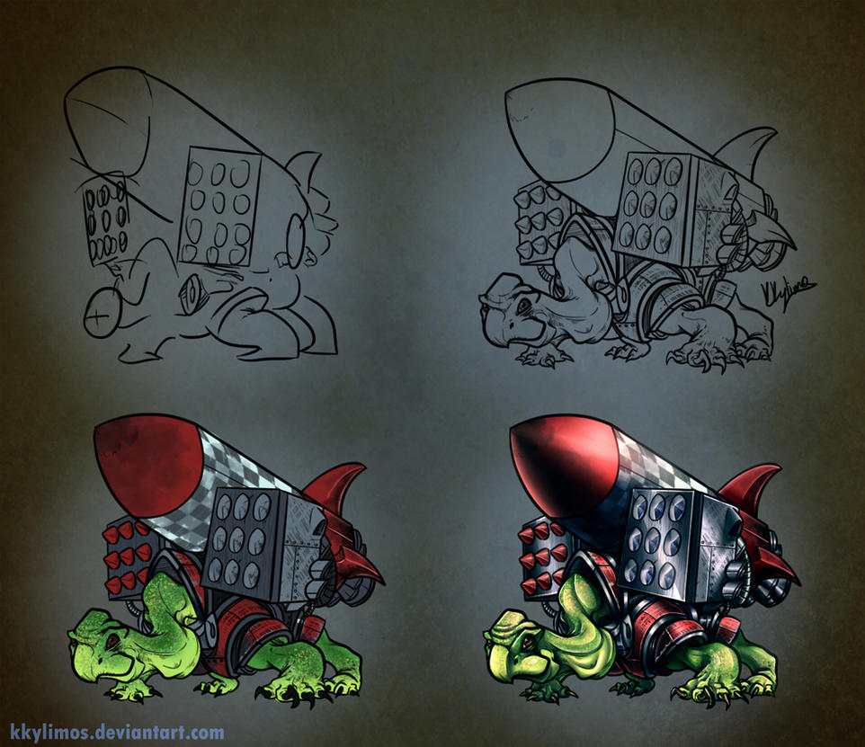 Rocket Turtle (step by step progress) by KKylimos