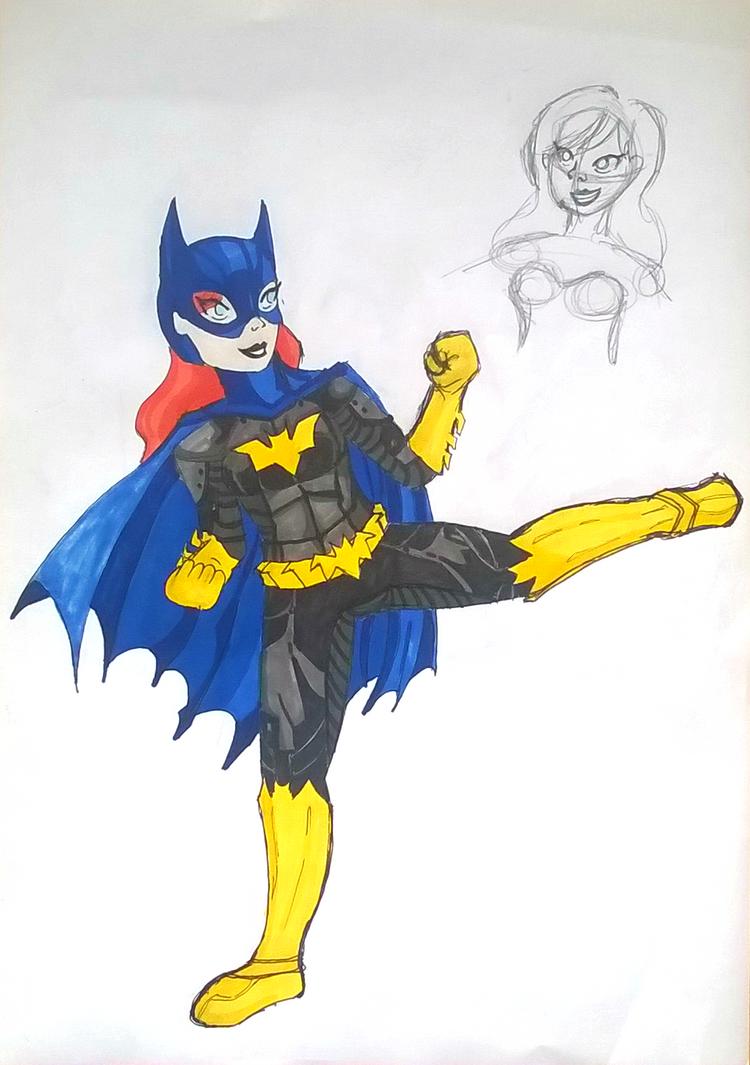 Batgirl original design by LyceeauxsecretsNarut