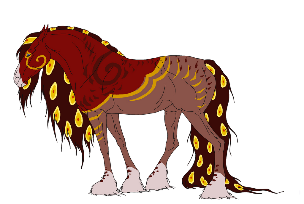 Mare Fiery Red Hybrid by DarKestcreagirl
