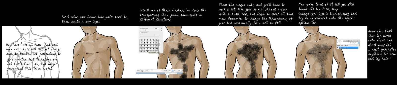Chest Hair Tutorial By Poly M On Deviantart