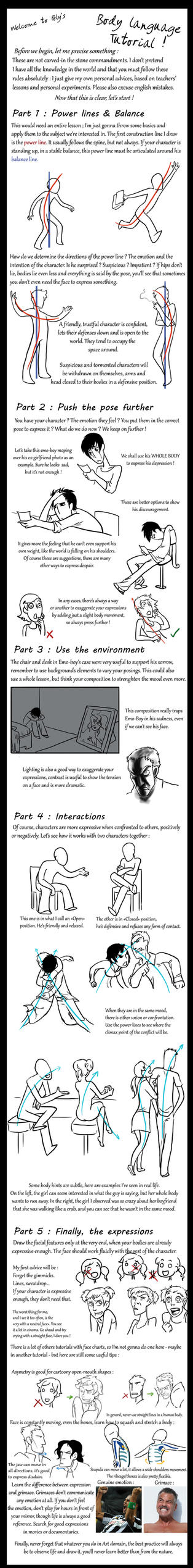 Body Language Tutorial by poly-m