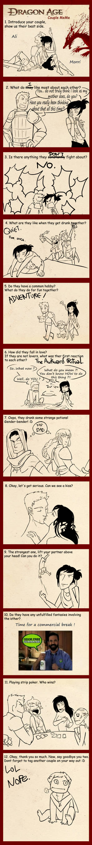 DragonAge couple meme - Morristair
