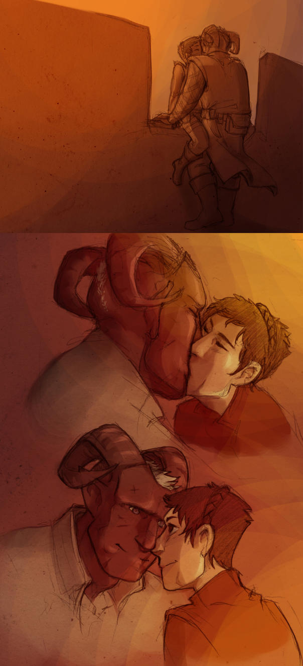 Afterbattle Kiss by poly-m
