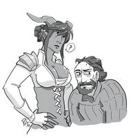 Iria Adaar and Blackwall by poly-m