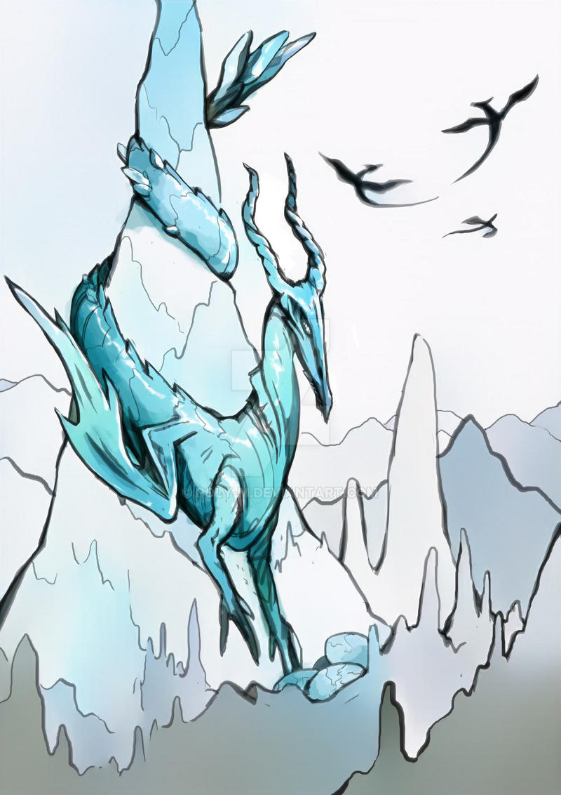 Ice Dragon by poly-m