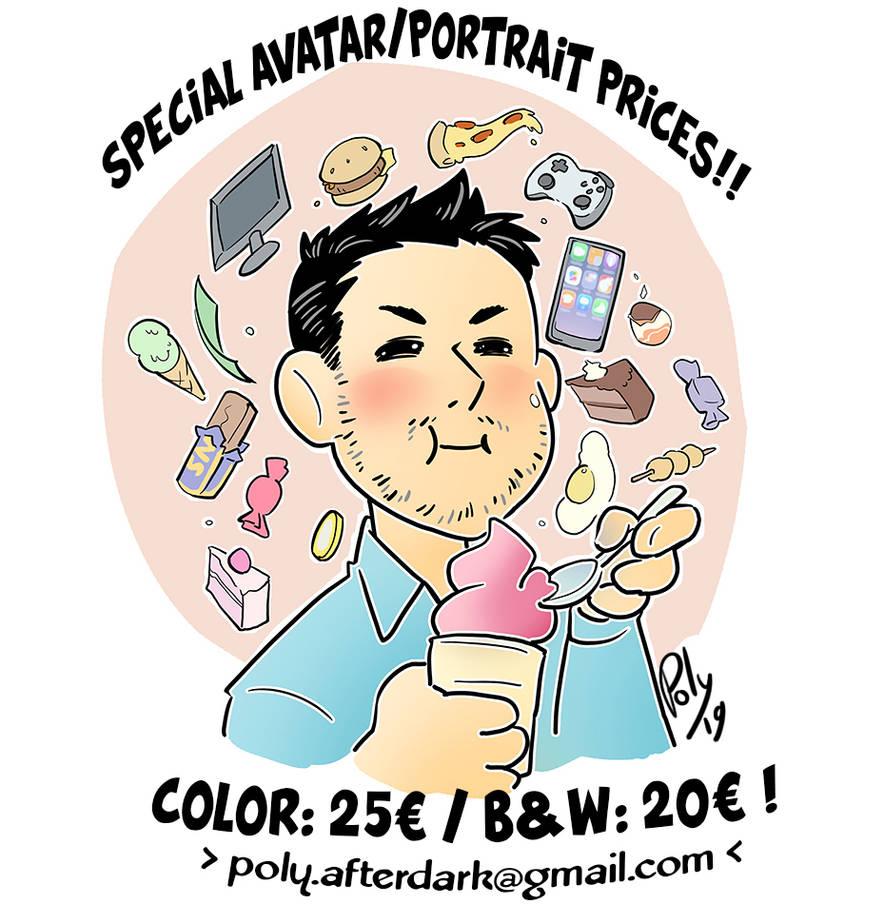 Portrait commission discount by poly-m