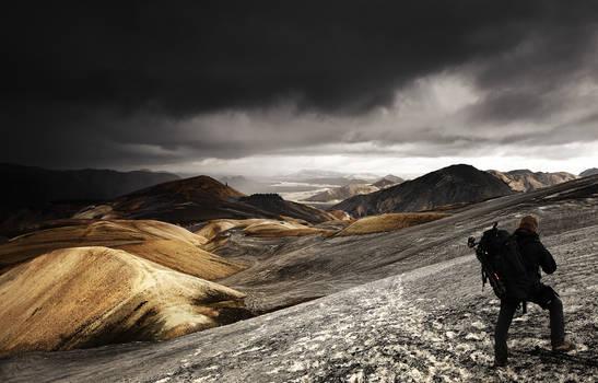 Ashes in Landmannalaugar