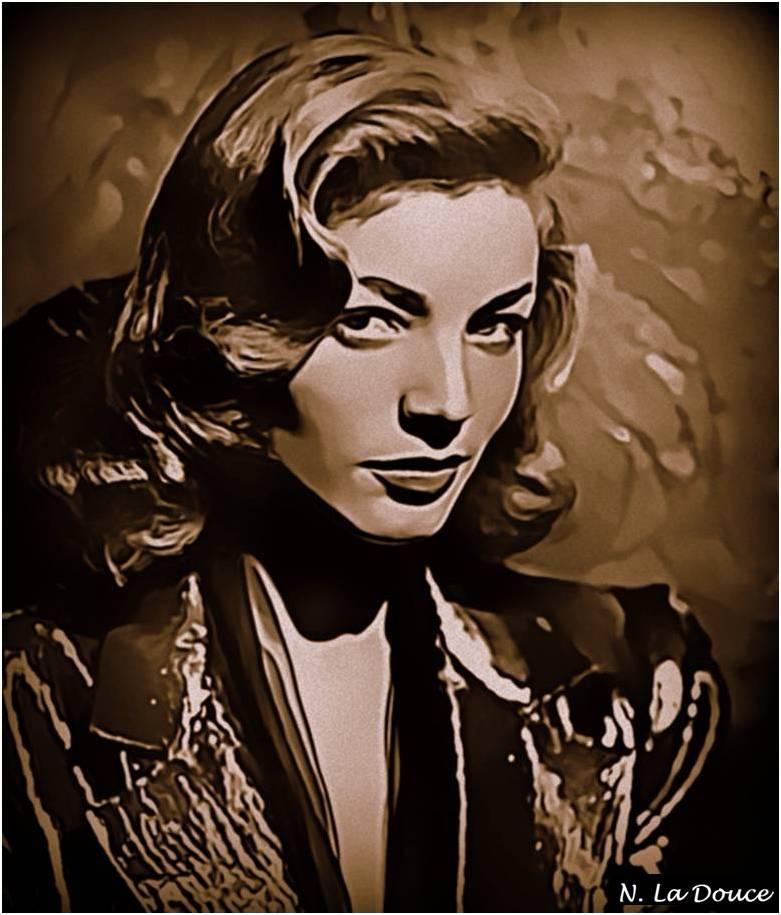 Lauren Bacall by Nestorladouce