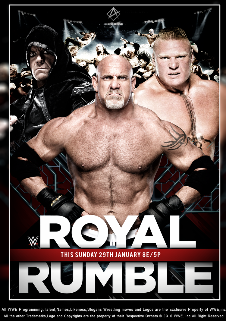 WWE RoyalRumble 2017 Poster by Aaaalif