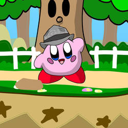 Kirby wearing a hat by GoForAPerfect2010