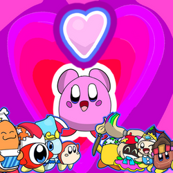 Kirby Star Allies 1st Anniversary by GoForAPerfect2010