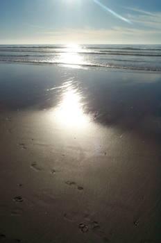 light on sand