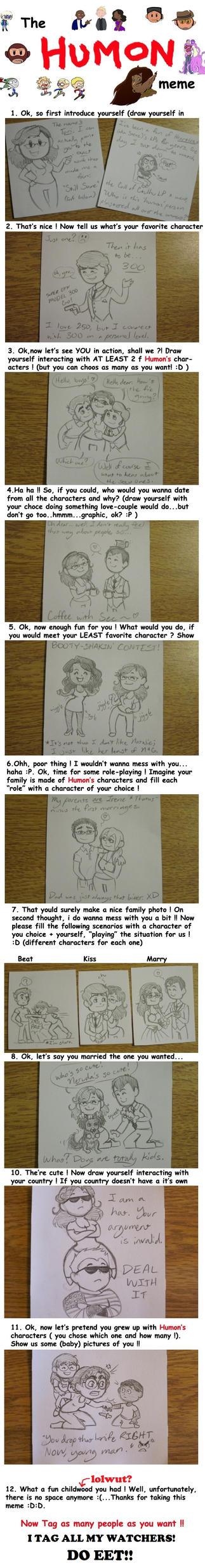 The Humon Meme (Complete!) by Daeranilen