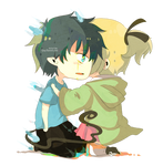 CHIBI Rin and shiemi