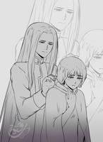 [Com] Tasukra and Leonardo by RukiaCH