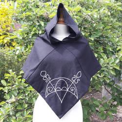 Skjoldehamn hood with Pictish Embroidery