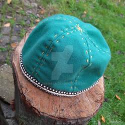 Birka Hat green wool