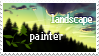 Lanscape painter stamp by Ali-zarina