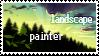 Lanscape painter stamp by Ali-zarina