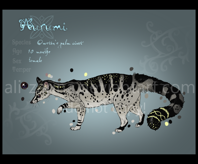 Owston's palm civet :: by Ali-zarina