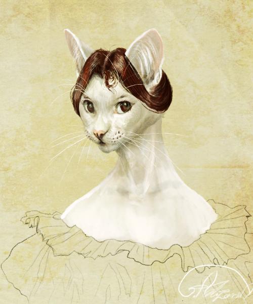 Portrait of a mysterious lady by Ali-zarina