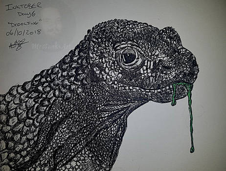 Drooling Inktober 2018 day 6