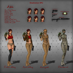 Shadowrun : Akila's reference drawing by Nemhainn