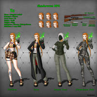 Shadowrun : Ys's reference drawing