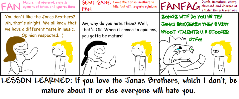 The Many Kinds of Jonas Fans by Maxtaro