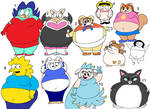 Fat cartoon girls