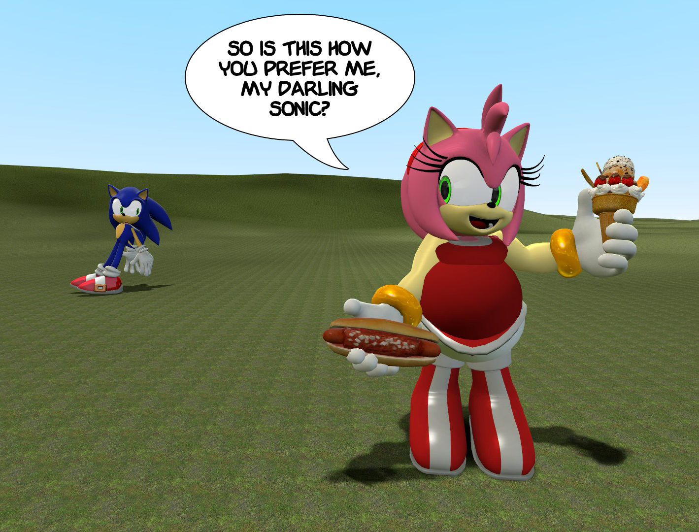 Female Weight Gain Tumblr FAT: Amy Rose is 3D by...