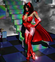 Scarlet Witch fan art (2 of 2) by blinded-dinosaur