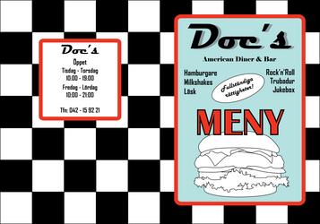 Doc's American Diner and Bar menu by SofiaAlexandra
