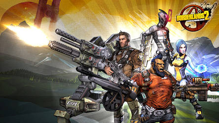 Borderlands 2 Wallpaper - Four Heroes