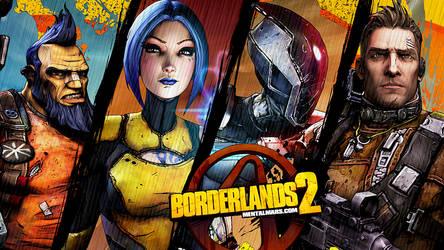 Borderlands 2 Wallpaper - The Four by mentalmars