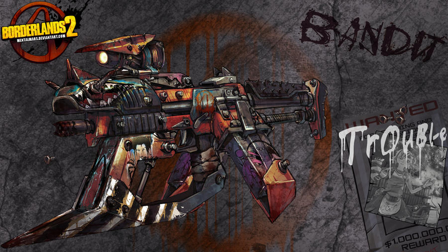 Borderlands 2 Wallpaper - Bandit by mentalmars