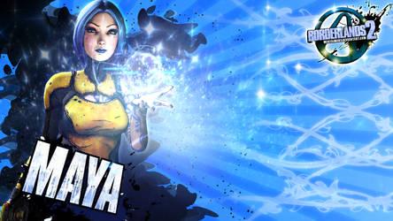 Borderlands 2 Wallpaper - Maya 2 blue by mentalmars